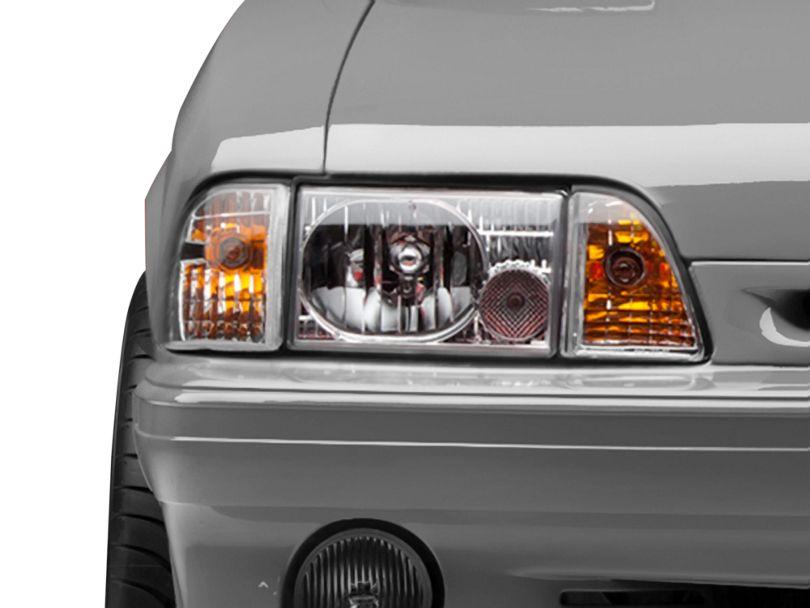Axial Headlights - Chrome (87-93 All)