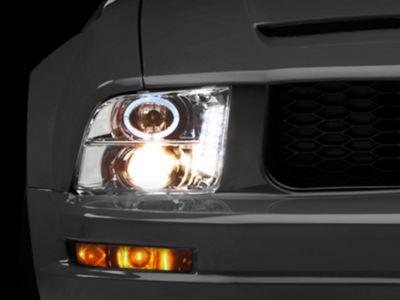 Raxiom Chrome Projector Headlights - LED Halo (05-09 GT, V6)