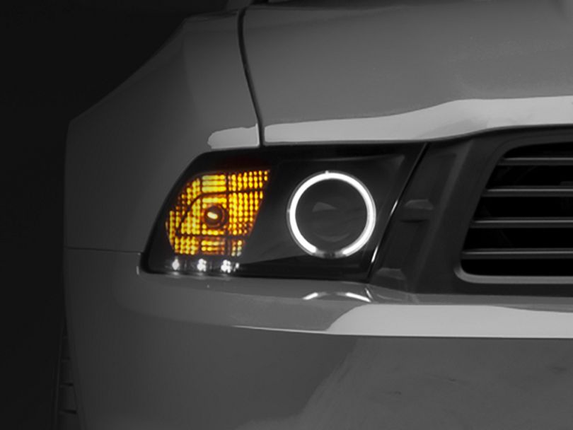 Raxiom Smoked Projector Headlights -CCFL Halo for Factory HID (10-12 GT, V6 w/ Factory HID)