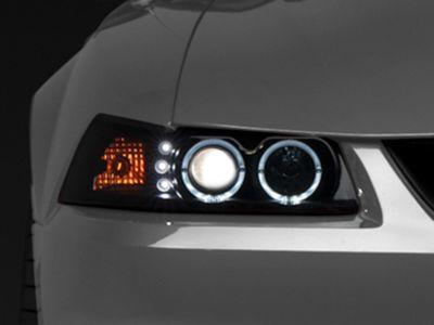 Raxiom Smoked Projector Headlights - Dual LED Halo (99-04 All)