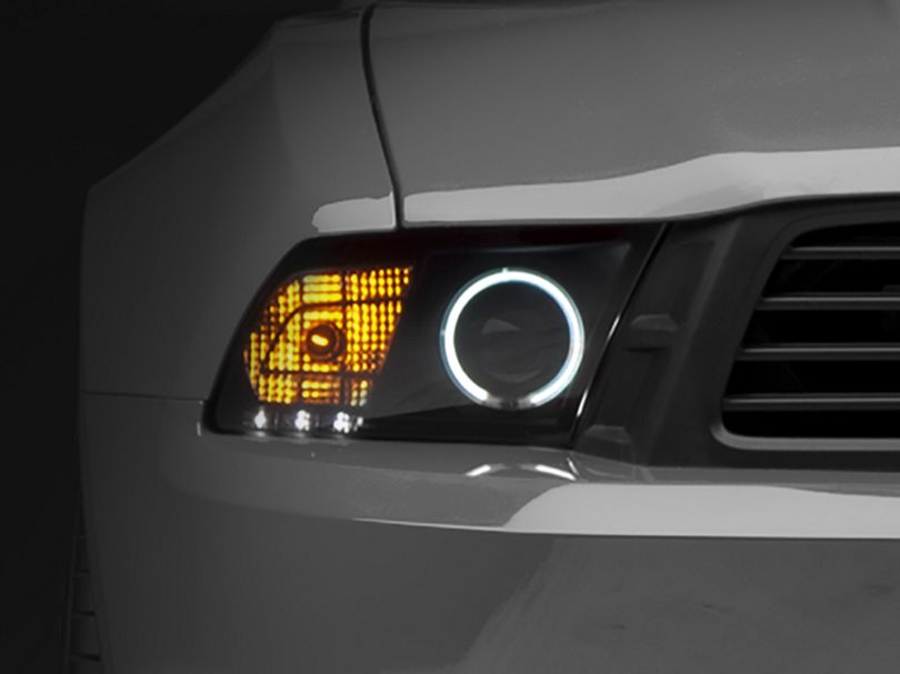 Raxiom Smoked Projector Headlights - CCFL Halo for Factory Halogen (10-12 GT, V6 w/o Factory HID)