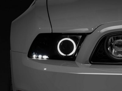 Raxiom Smoked Projector Headlights with Halo for Factory HID (13-14 GT
