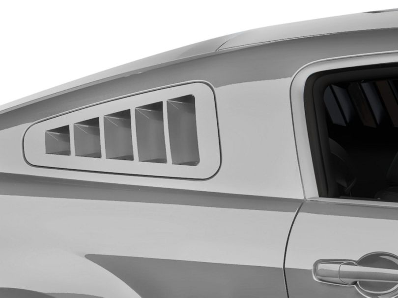 SHR Flush-Mount Quarter Window Louvers; Unpainted (10-14 Coupe)