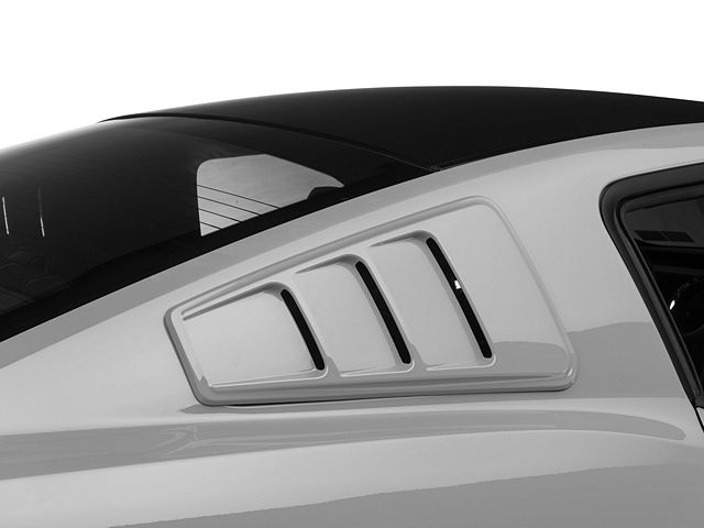 Roush Quarter Window Louvers; Pre-Painted (05-14 Coupe)