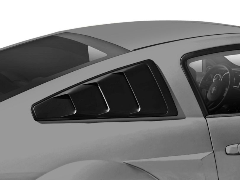MMD Quarter Window Louvers; Matte Black (05-14 Coupe)