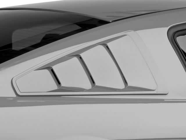Mmd mustang quarter window louvers pre painted 71303 05 for 2000 mustang rear window louvers