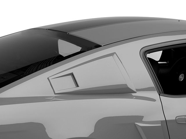 MMD Eleanor Style Window Scoops; Pre-Painted (05-14 Coupe)