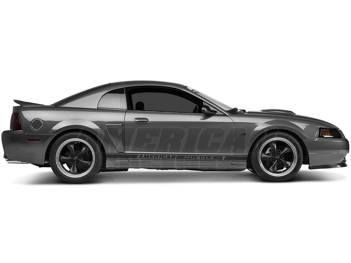 Bumper Plastic Letters Inserts fits 1994-1998 Mustang GT Models BDTrims Chrome