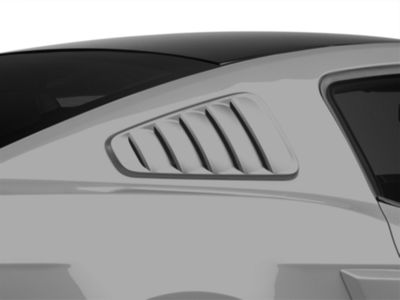 SpeedForm Pre-Painted Classic Quarter Window Louvers - Ingot Silver Metallic (10-14 Coupe)
