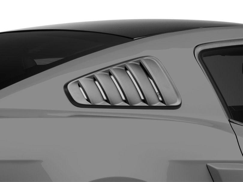 SpeedForm Classic Quarter Window Louvers - Matte Black (10-14 Coupe)