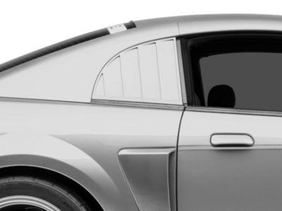 Add MMD Quarter Window Louvers - Pre-painted (99-04 GT, V6, Cobra)