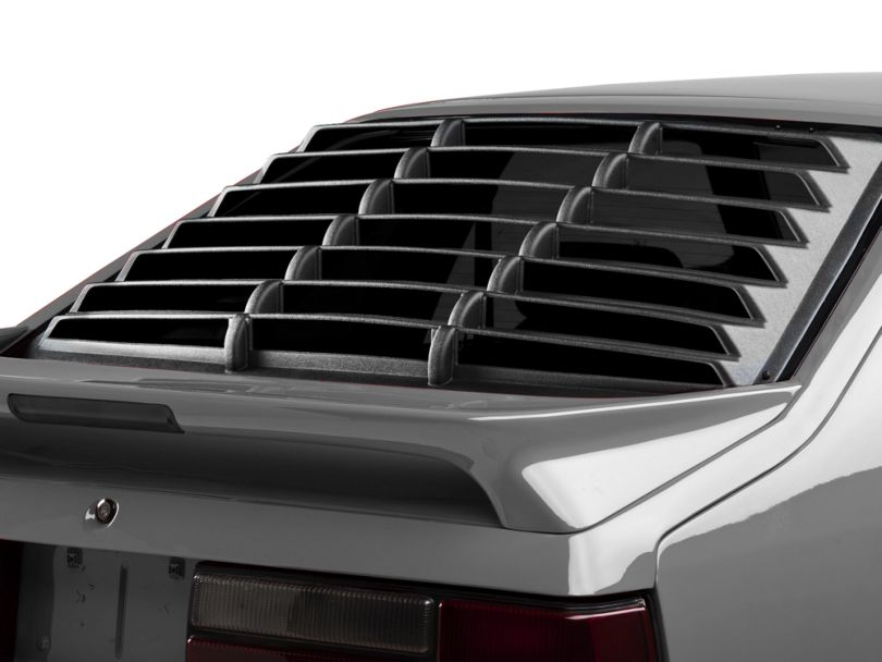 Rear Window Louvers; Textured ABS (79-93 Hatchback)