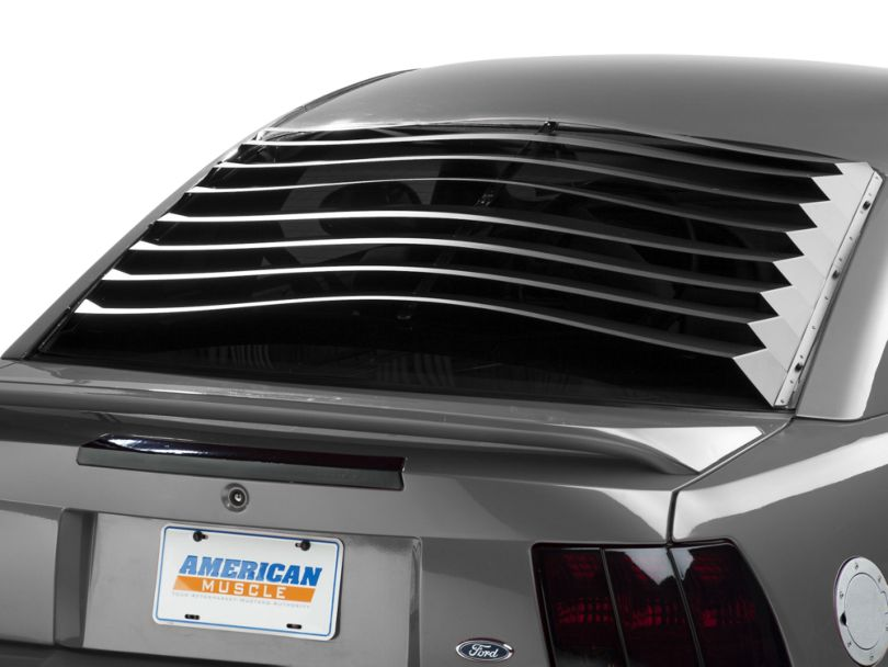 SpeedForm Rear Window Louvers; Smooth Aluminum (94-04 Coupe)