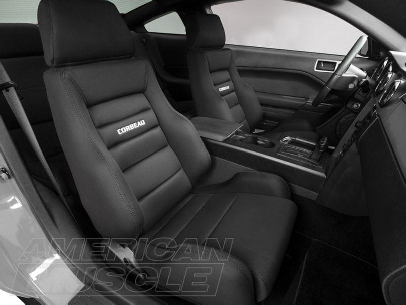 Corbeau GTS II Racing Seats - Black Cloth - Pair (79-20 All)