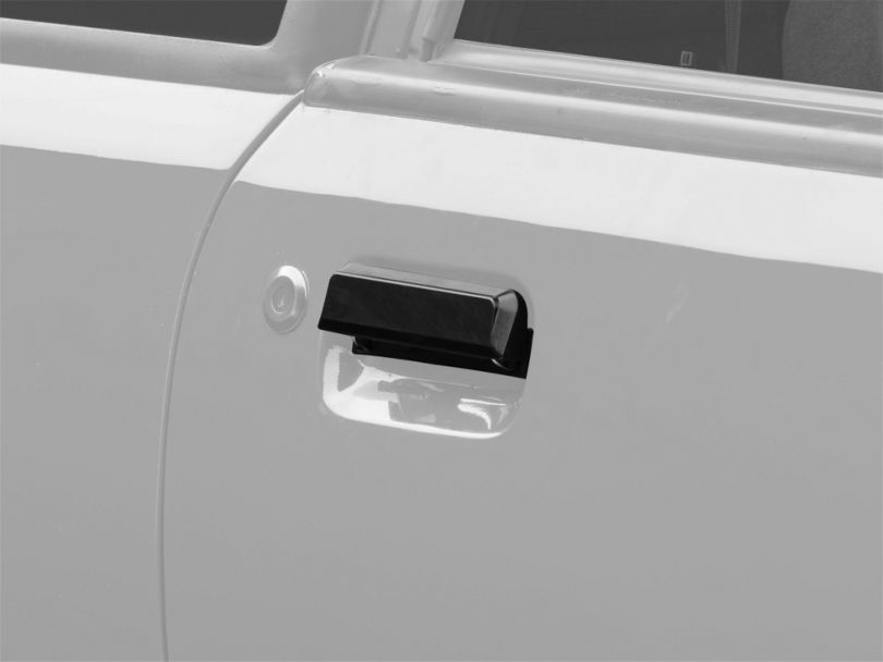 OPR Gloss Black Exterior Door Handle; Right Side (79-93 All)