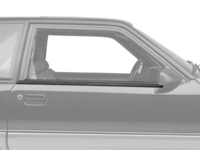 Add Exterior Door Window Belt Molding Trim - Coupe, Hatchback (87-93 All)