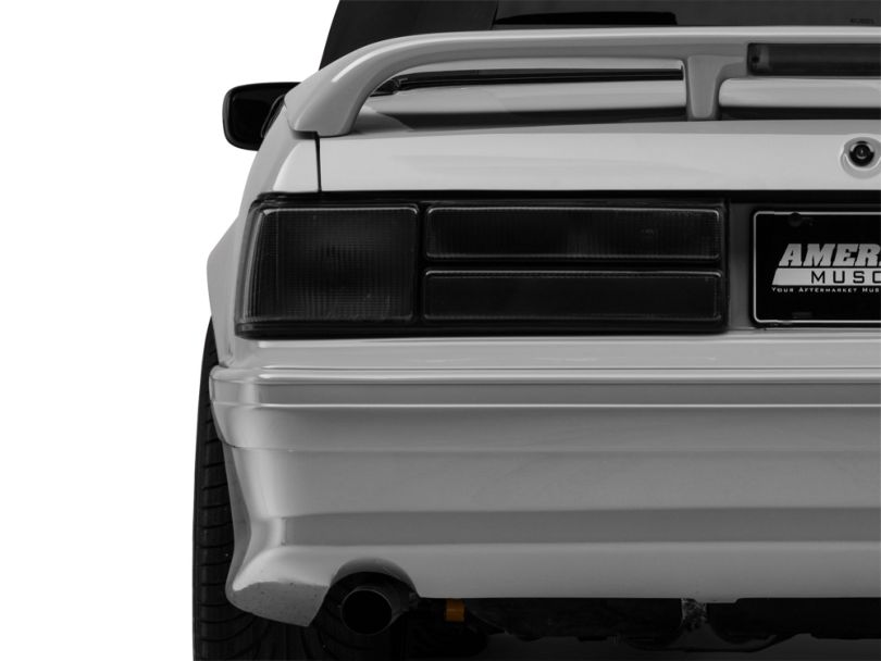 Axial Smoked Tail Light Lenses; Pair (87-93 LX)
