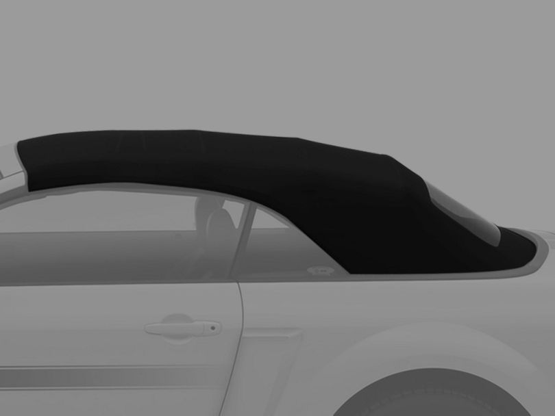 OPR Replacement Convertible Top and Heated Rear Glass; Pinpoint Vinyl Black (05-14 Convertible)