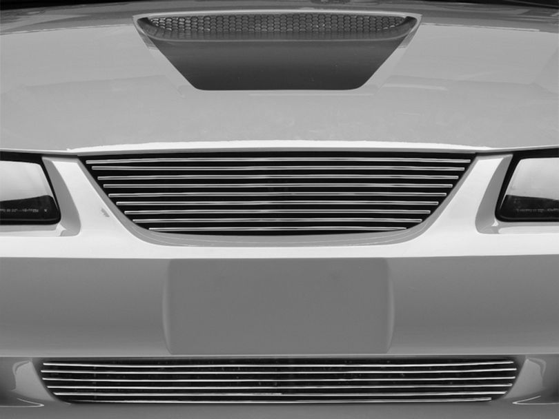 Modern Billet Pony Delete Billet Grille - Polished (99-04 All)
