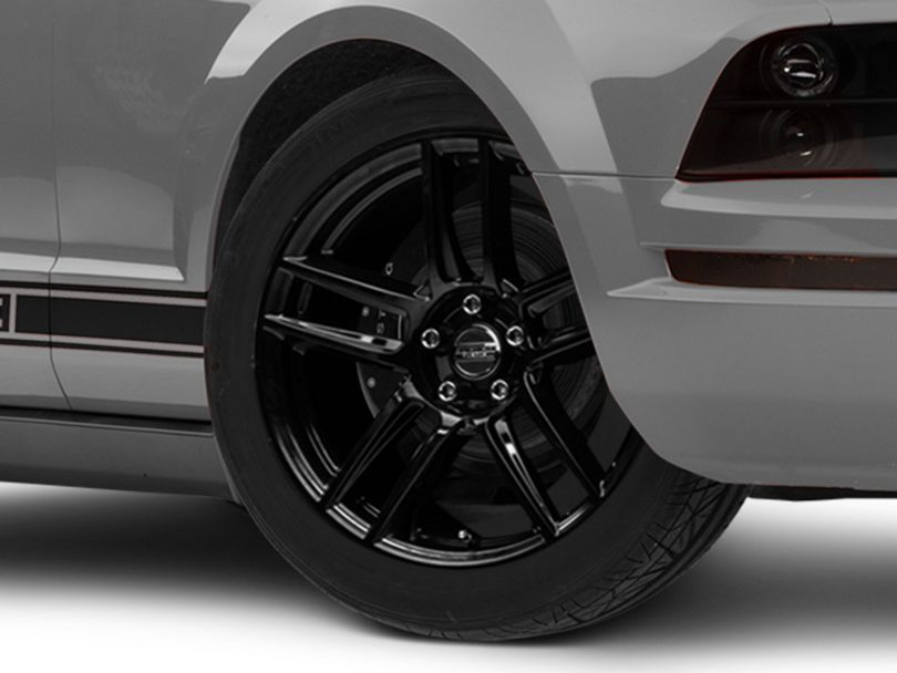Laguna Seca Style Black Wheel; 19x9 (05-09 All)
