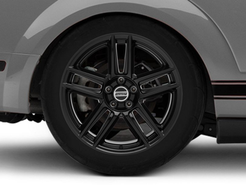 Laguna Seca Style Black Wheel; Rear Only; 19x10 (05-09 All)