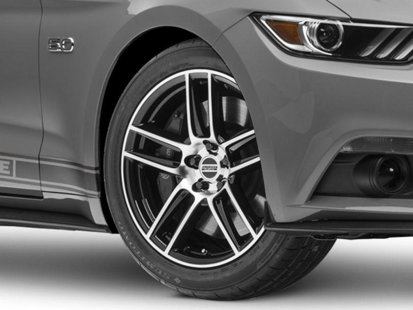 Laguna Seca Style Black Machined Wheel - 19x9 (15-19 GT, EcoBoost, V6)
