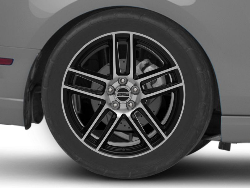 Laguna Seca Style Black Machined Wheel; Rear Only; 19x10 (10-14 All)