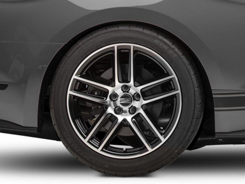 Laguna Seca Style Black Machined Wheel - 19x10 - Rear Only (15-20 GT, EcoBoost, V6)