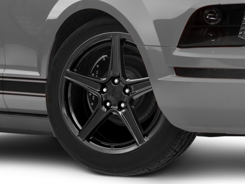 Saleen Style Black Wheel; 19x8.5 (05-09 GT, V6)
