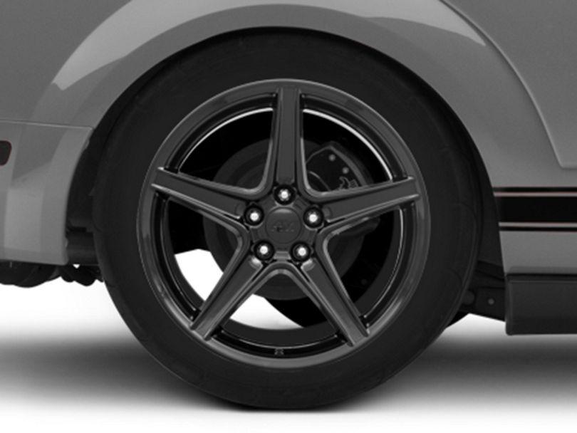 Saleen Style Black Wheel; Rear Only; 19x10 (05-09 GT, V6)