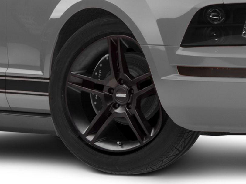 2010 GT500 Style Matte Black Wheel; 18x9 (05-09 All)