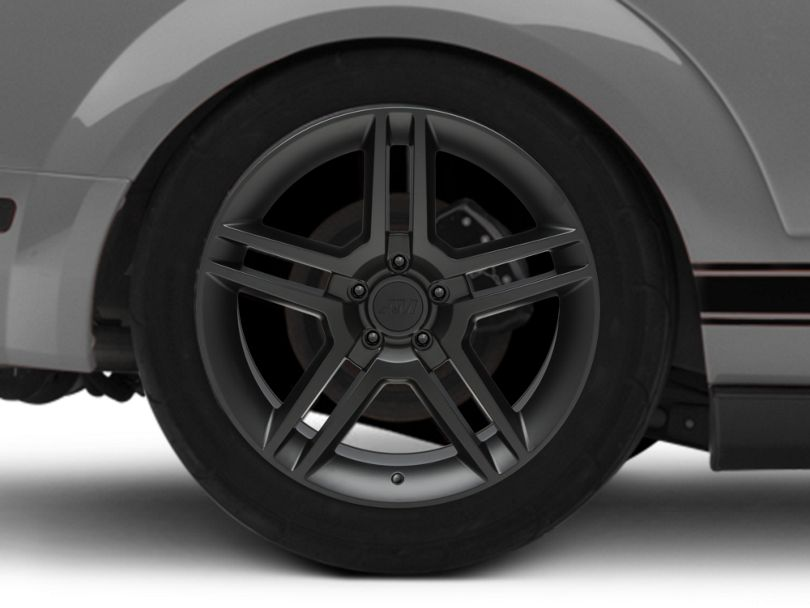 2010 GT500 Style Matte Black Wheel - 19x10 - Rear Only (05-09 All)