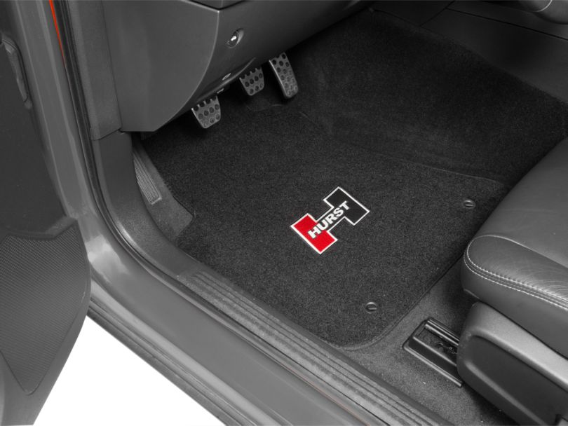 Hurst Front and Rear Floor Mats with Red Hurst Logo; Black (08-20 All)