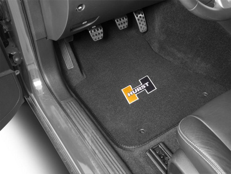 Hurst Front & Rear Floor Mats w/ Gold Hurst Logo - Black (08-20 All)