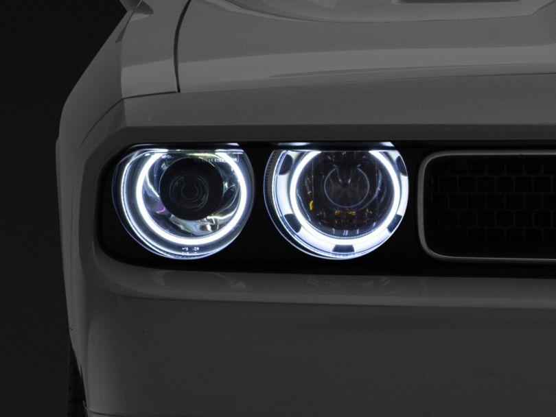 Oracle Chrome OE Style Headlights w/ Plasma Halos (08-14 w/ HID Headlights)
