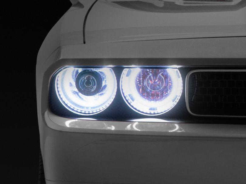 Oracle Chrome OE Style Headlights w/ ColorSHIFT LED Halos (08-14 w/ HID Headlights)