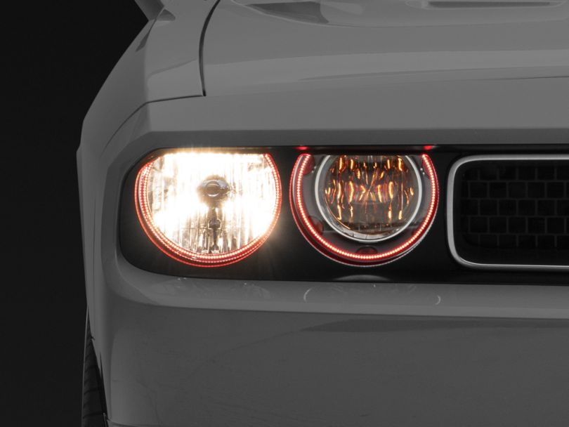 Oracle Chrome OE Style Headlights w/ LED Halos (08-14 w/o HID Headlights)