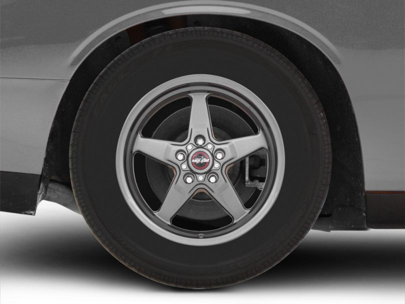 Race Star 92 Drag Star Bracket Racer Metallic Gray Wheel - 17x9.5 - Rear Only (08-20 All, Excluding AWD)