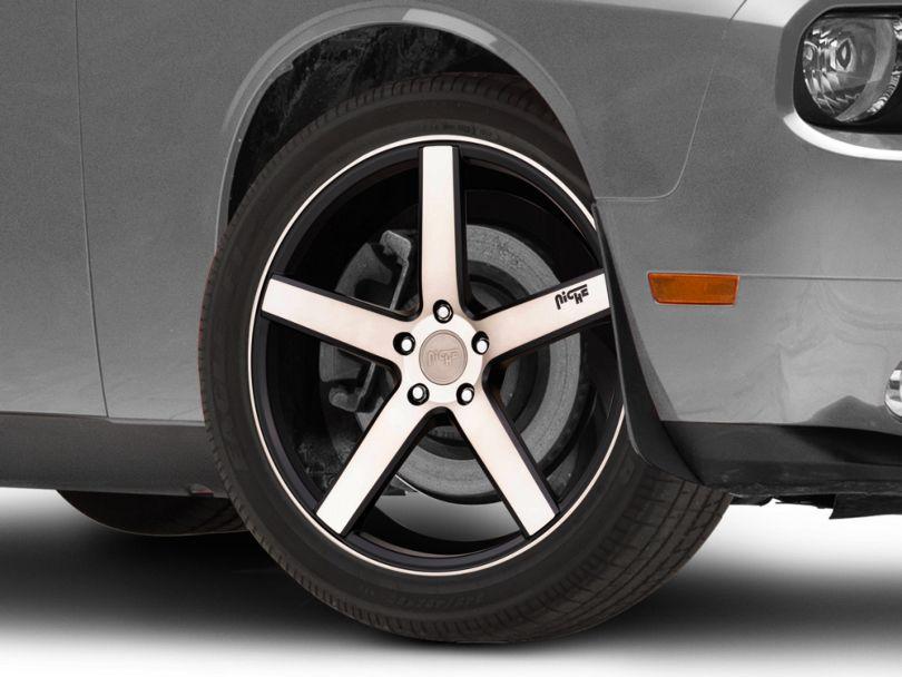 Niche Milan Matte Black Machined Wheel; 20x8.5 (08-20 All, Excluding Demon & Hellcat)