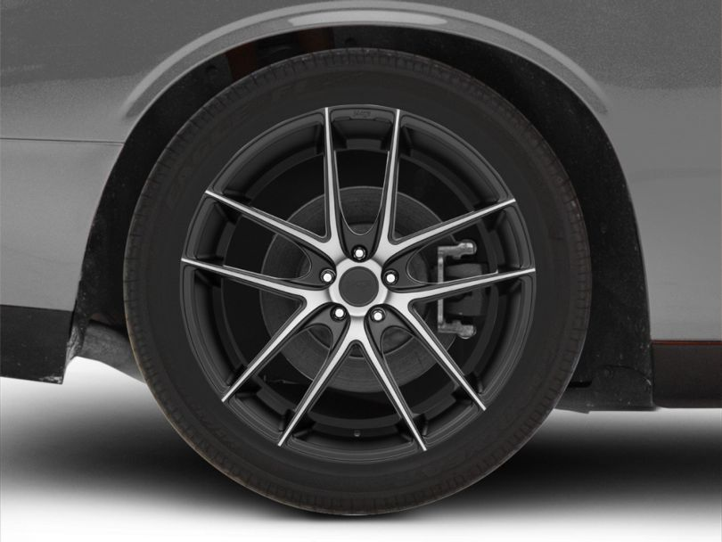 Niche Targa Black Machined Wheel; Rear Only; 22x10.5 (08-20 All, Excluding AWD)