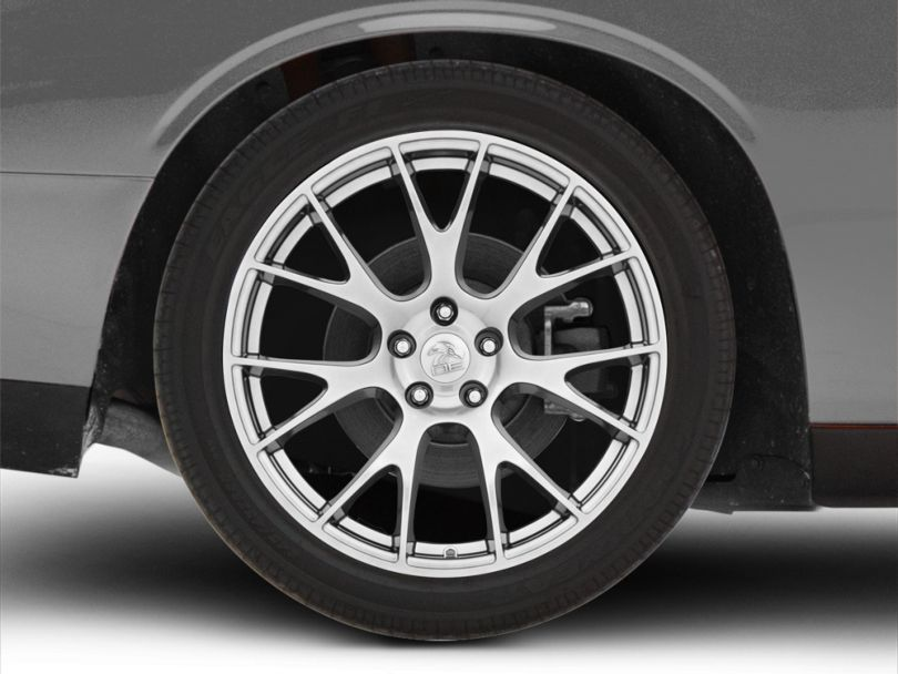 Hellcat Style Hyper Black Wheel; Rear Only; 20x10 (08-20 All, Excluding AWD)