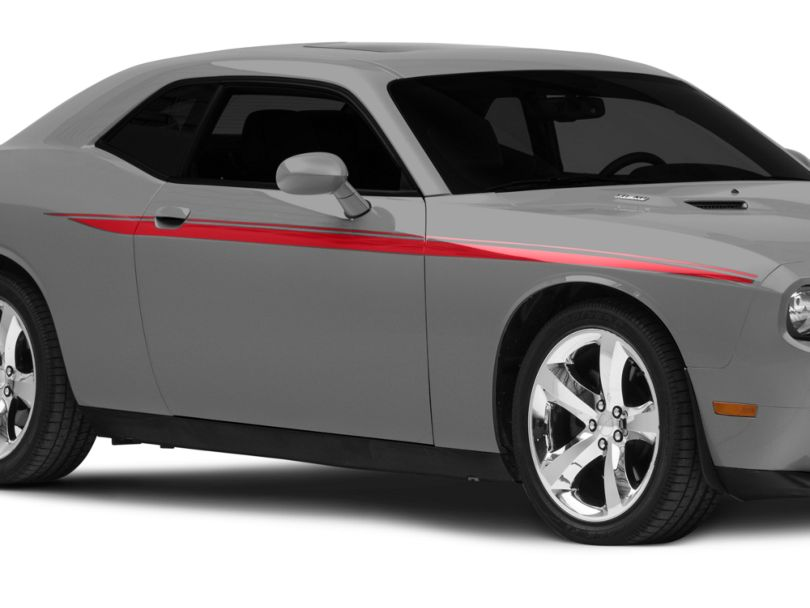 American Muscle Graphics Red Side Stripes (08-20 All)