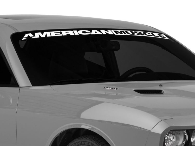 American Muscle Graphics AmericanMuscle Windshield Banner - White (08-20 All)