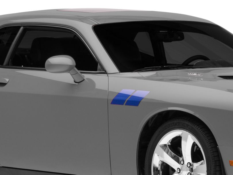 American Muscle Graphics Hash Marks; Blue (08-20 All)