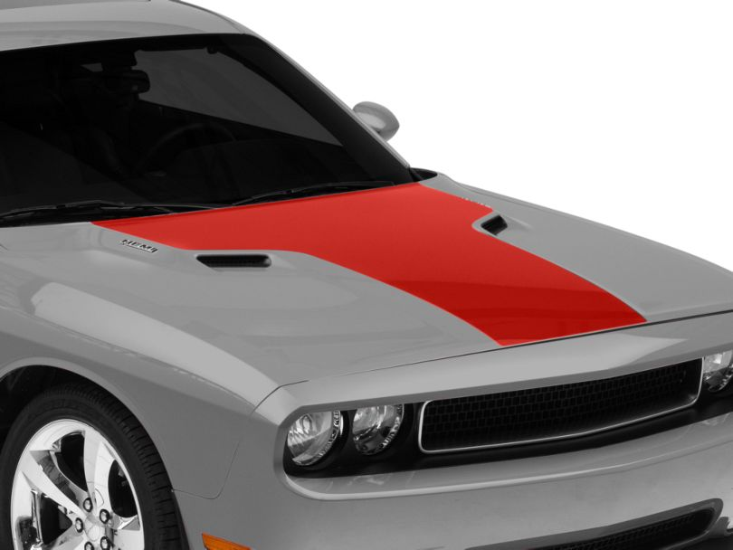 American Muscle Graphics Hood Decal; Red (08-14 All)
