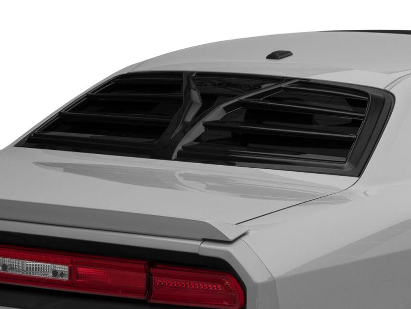 Rear Window Louvers - Gloss Black (08-20 All)
