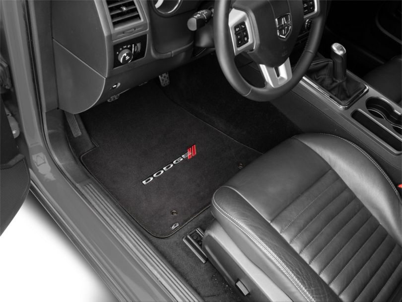 Lloyd Ultimat Front and Rear Floor Mats with Dodge Logo; Black (11-20 All, Excluding AWD)