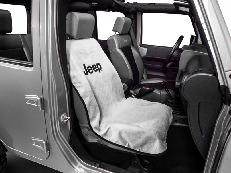Seat Armour Jeep Letters Seat Cover - Gray (87-20 Jeep Wrangler YJ, TJ, JK & JL)