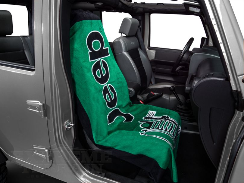 Seat Armour Towel 2 Go - Green (87-20 Jeep Wrangler YJ, TJ, JK & JL)
