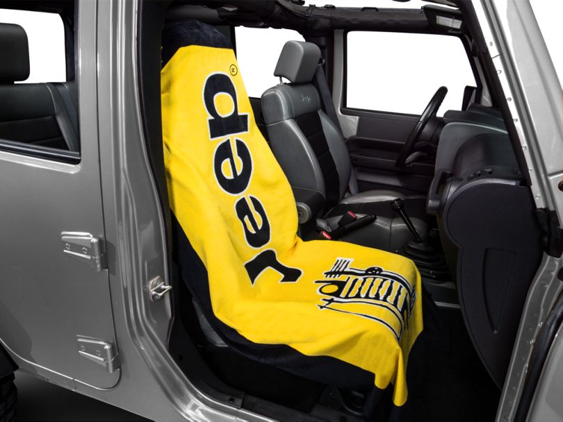 Seat Armour Towel 2 Go; Yellow (87-20 Jeep Wrangler YJ, TJ, JK & JL)